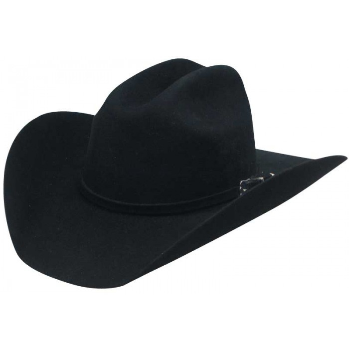 Adult Top Champ 4X Black Wool Cattleman Cowboy Hat,4X Black Wool Cowboy Hat, raw edge cowboy hat, black wool cowboy hat