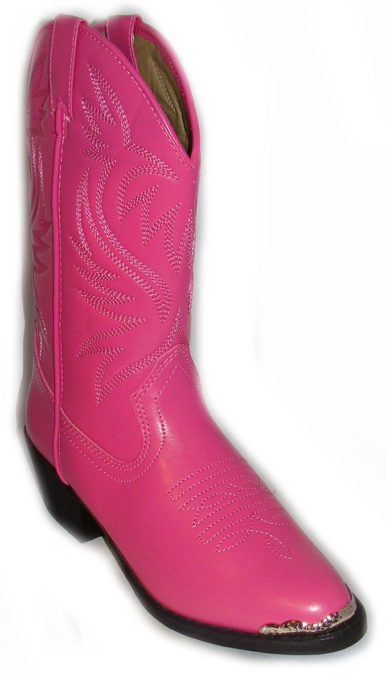 Hot Pink boot tip cowboy boots fit Ladies