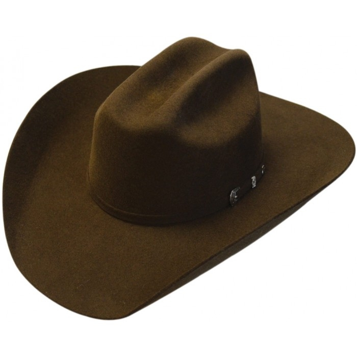 Adult Top Champ 4X Chocolate Brown Wool Cattleman Cowboy Hat