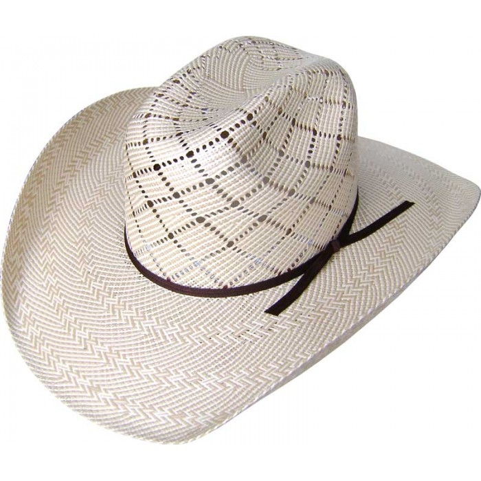 500X Two-Tone Silverton Taupe Shantung Straw Cowboy Hat, 500X Straw Cowboy Hat,500X 8 Second Two-Tone Shantung Straw Cowboy Hat