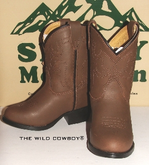 Denver&quot Crazy Horse Brown toddler cowboy boots Reg or Wide