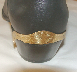 gold laser etched cowboy boot heel guards
