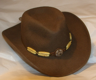 "Bailey lite felt ""Reese"" brown Crushable cowboy hat, cowboy hat"