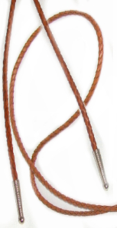 leather bolo tie, brown leather bolo tie, long bolo tie, bolo string, leather bolo string