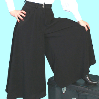 Scully Womens Black Sueded Split Skirt Or Riding Pants