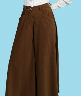 Scully Womens Brown Sueded Split Skirt Or Riding Pants