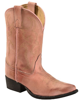 """Bonanza"" YOUTH Rose snip toe cowboy boots"