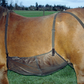 horse belly guard, equine belly guard, net for horses belly, horse bug protection
