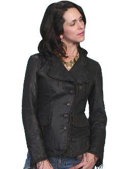 Scully Lambskin leather Black blazer
