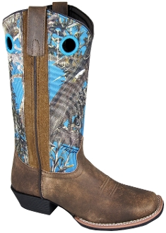 Womens Square Toe True Timber blue Camo Cowboy Boots, womens cowboy boots, cowboy boots for women, ladies cowboy boots, cowgirl boots, womens cowgirl boots
