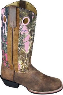 Womens Square Toe True Timber Pink Camo Cowboy Boots, womens cowboy boots, cowboy boots for women, ladies cowboy boots, cowgirl boots, womens cowgirl boots