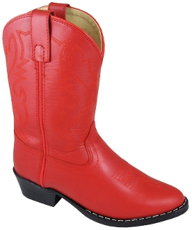 """Red Denver"" Leather Toddler Red Cowboy Boots"