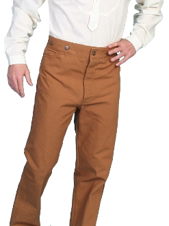 Mens Scully Wahmaker Brown Canvas Saddle Pants Usa Made