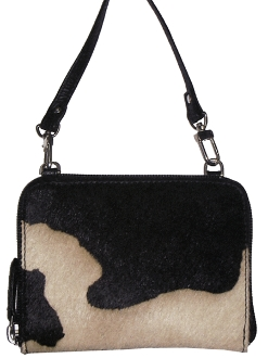 Black, White Hair on Hide Scully Leather Crossbody Handbag, western handbags, western luggage, luggage sets, purses western, leather western purses, leather western wallets, leather purse,