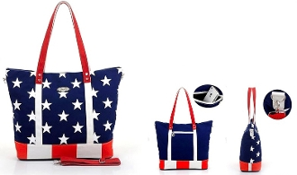 This USA Patriotic American Flag Canvas Tote with Shoulder Strap is a very large bag for the beach, shopping or any other occasion to show off your patriotic spirit.