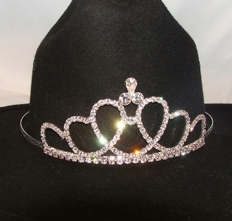 Quot Circle Of Love Quot Rhinestone Cowboy Hat Tiara Usa Made