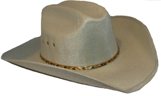 "ADULT Silver Gray Faux felt traditional cowboy hat, ADULT ""Grey Summit"" Faux felt traditional cowboy hat"