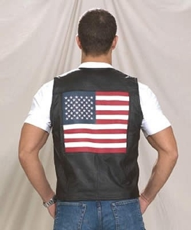 Are you the person who loves where he comes from, or do you love America? This USA AMERICAN Flag leather vest for men is just for that.