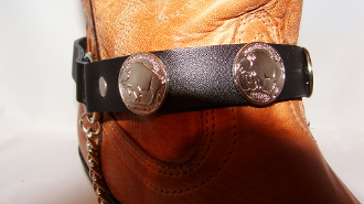 PAIR- Buffalo Conco Cowboy Boot Chains