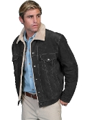 This Scully Mens Black Suede Fur Collar Western Jacket is a great looking on the range functional jacket. The entire inside is lined with a faux shearling or sheepskin so soft to the touch.