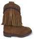 """Hopalong Lil Brave"" Brown Suede Fringe Toddler Cowboy Boots"