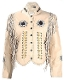 Native Beads and fringe Womens Western Jacket, Womens western jacket, fringe western jacket for women, womens fringe jacket, jacket with bones, jackets with fringe for women