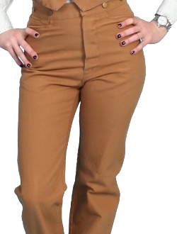 Scully USA Womens tan canvas Saddle seat riding pants, Scully USA made Womens tan saddle riding pants, riding pants for women, western riding pants, usa made riding pants
