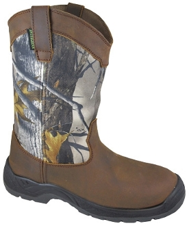 """Brushfield"" True Timber Mens Waterproof Cowboy boots"