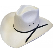 Adult Canvas White Pinch Front Cowboy Hat , matt farris cowgirl hat, matt farris white hat, matt farris shes done hat