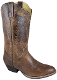 "The ""Amelia"" Womens Distressed Brown cowboy boots do accommodate that hard to find wide cowboy boots for women. This is a nice leather western look for ladies with a bit of a wider foot."