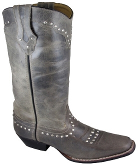"""Laurel"" Womens Gray Square Toe Cowboy Boots"