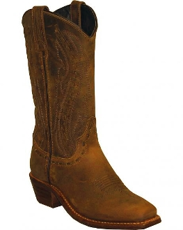 Distressed Brown Lace Womens Square Toe Cowboy Boots - USA made, usa made cowboy boots, womens cowboy boots, cowboy boots for women, cowboy boots