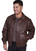 """Danny"" Mens Scully Dk.Brown Lambskin Jacket"