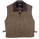 """Kelly"" Kakadu Tobacco Canvas Concealed Carry Western Vest, gun carry vest, concealed Carry Western Vest, canvas western vest, mens western vest, western vest for men"