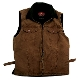 """Kelly"" Kakadu espresso Canvas Concealed Carry Western Vest, gun carry vest, concealed Carry Western Vest, canvas western vest, mens western vest, western vest for men"