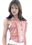 Womens Pink leather western vest, womens concealed carry vest, concealed carry vest for women, ladies concealed carry vest, western leather womens concealed carry vest, ladies concealed carry vest