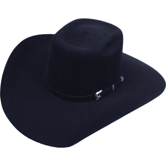 Adult Bull Rider Pro 1 Black Wool Cowboy Hat, Adult 4X Black Wool Cattleman Cowboy Hat,4X Black Wool Cowboy Hat, raw edge cowboy hat, black wool cowboy hat