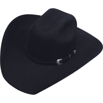 Adult Silverton Black Wool Cowboy Hat,4X Black Wool Cowboy Hat, raw edge cowboy hat, black wool cowboy hat