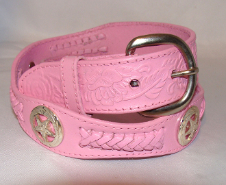 """Texas Gold"" Kids Western Star Pink Leather Belt, western belt for kids, leather western belt, kids western belt, boys western belt, child western bet, childrens western belt, western belts for children"
