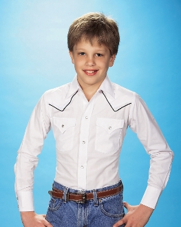 Kids Ely White Piped Black Western Shirt, Kids Ely Piped Western Shirt,child western shirt, western shirts for kids, child western clothing,