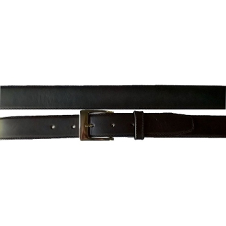 Plain black leather western belt