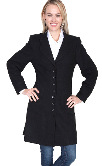 Scully Womens 1800 S Vintage Wool Black Frock Coat Usa