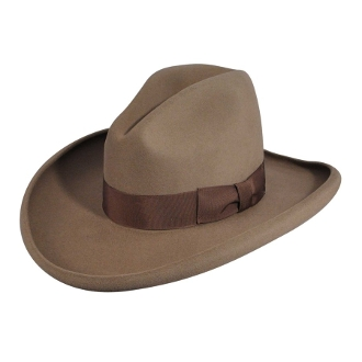 "This ""Clayton"" Frontier 4X Black Wool Cowboy Hat was made for you in the USA. Take pride in your American Made Matters western hat by Bailey Hats. Look just like a character in a western movie with this cowboy hat."