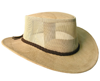 """Bendigo"" Mesh Crown Leather Western Hat, water cowboy hat, river hat, cowboy hat, mens cowboy hat, womens cowboy hat, cowboy hat with draw string, waterproof cowboy hat, Kakadu soaka"