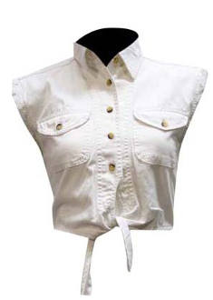 Ladies tie front denim shirt, daisy duke shirt, womens daisy duke shirt, daisy duke western shirt, daisy duke tie front shirt, daisy duke tie up shirt