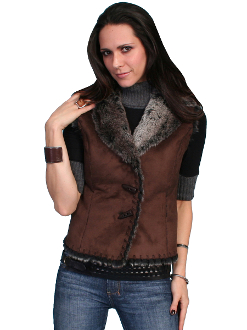 scully western vest, western fur vest, fur suede vest, suede western vest, western ladies vest, suede scully vest for ladies, womens western vest, scully vest