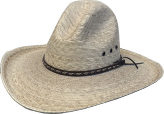 This Adult Sahuayo Palm Gus Crown 1000X Straw Cowboy Hat is a throwback to the old west with the high back crown in the gus style.