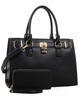 The Black Birkin Style CCW Concealed Carry Holster Handbag with Wallet is perfect for your concealed needs because with the removable holster there is no printing.