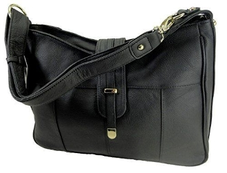 "Our ""Diane"" Women's Black Leather Concealed Carry has an actual Holster that means no printing on your purse. No printing with this included gun holster for your leather concealed handbag."