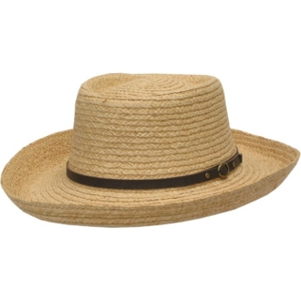 This Adult Raffia Palm Gambler Cowboy Hat is a great way to protect from the sun and look fashionable at the same time. This gambler hat is made of soft raffia straw with a small brim size for a cute look.
